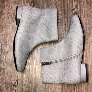 Nina Memory Foam Peachy Pinks Silver Booties